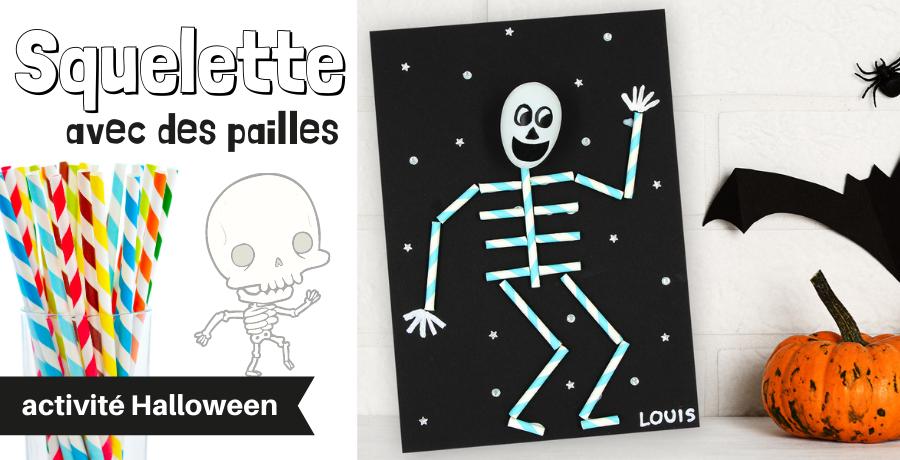 DIY squelette pailles