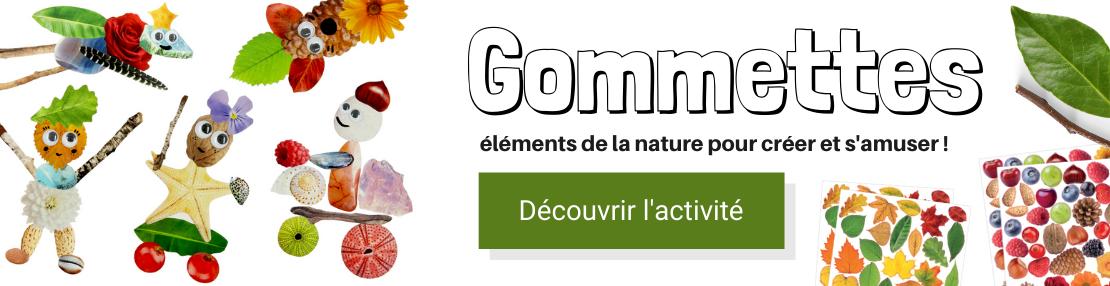 Gommettes nature