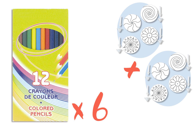 Crayons De Couleur Pochette De 12 Crayons De Couleurs