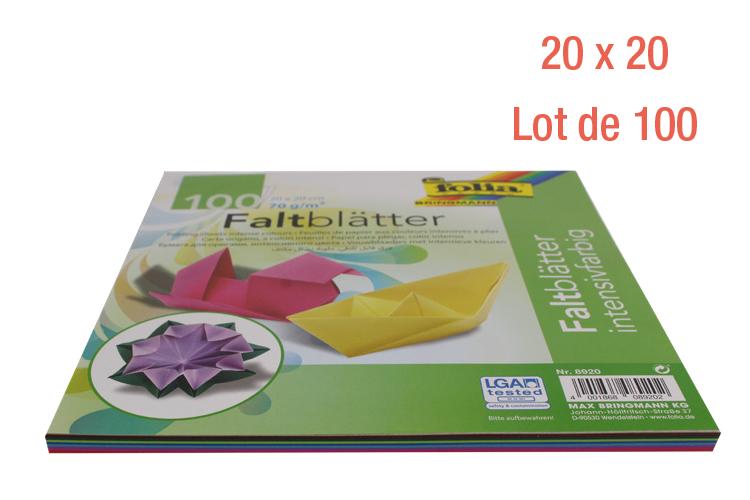 Feuilles Couleurs Vives Origami 10 Couleurs Assortis