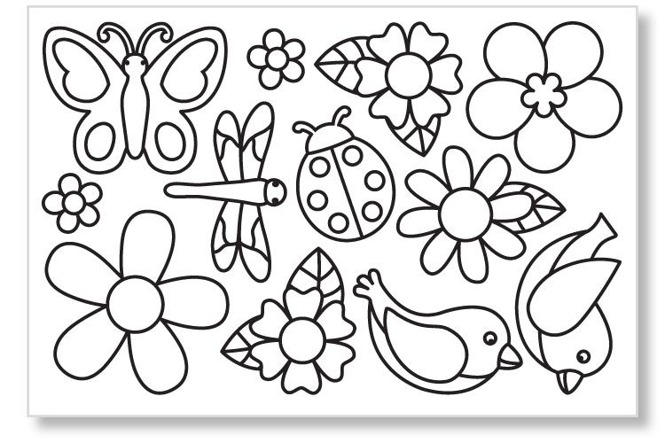 Stickers Transparents à Colorier Stickers à Décorer 10