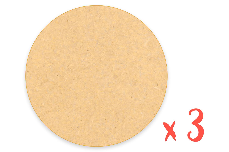 MDF Cercle 10 cm 20 cm 30 cm 40 cm 50 cm 3 mm 6 mm en bois