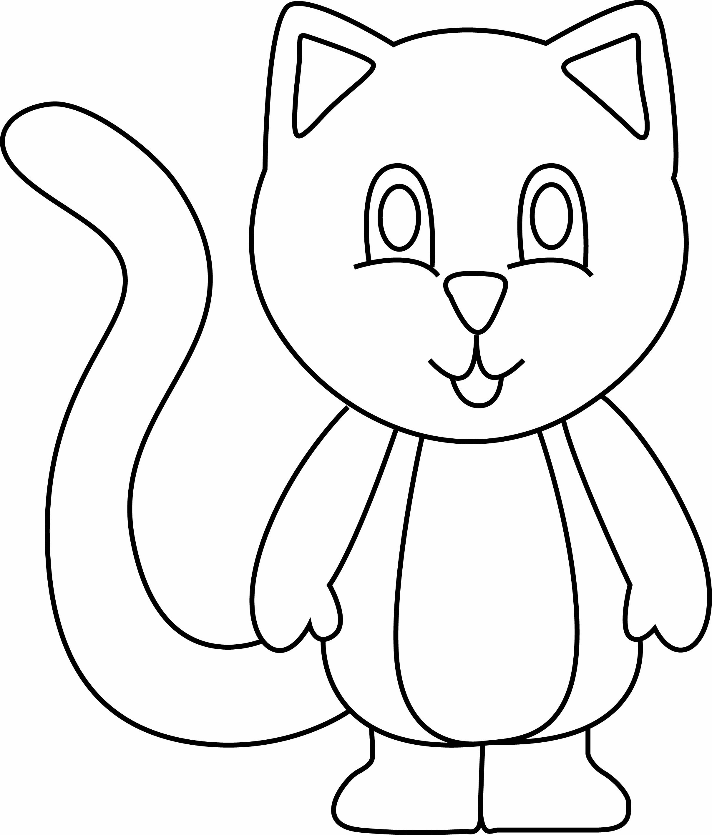 Coloriage Animaux Chat 05 10 Doigts