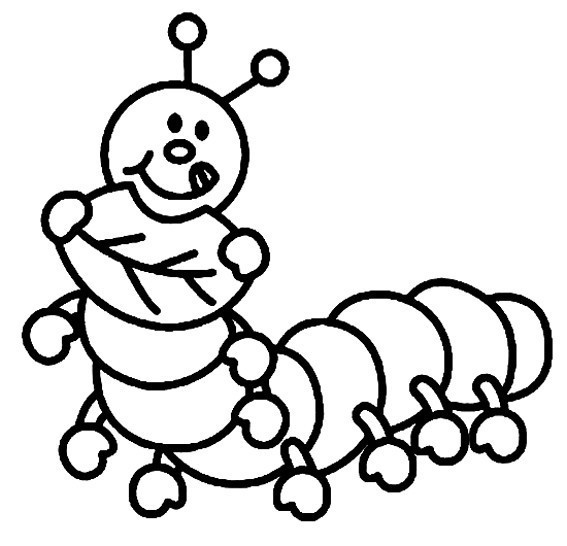 Coloriage Animaux Chenille 01 10 Doigts