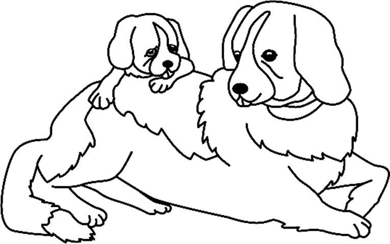 Coloriage Animaux Chien 07 10 Doigts