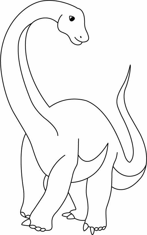 Coloriage Dinosaures Diplodocus 10 Doigts