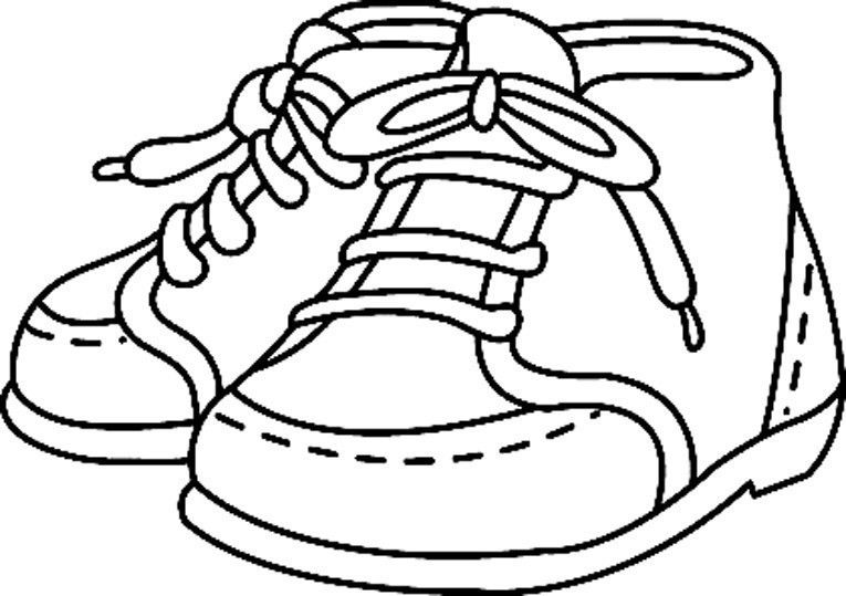 Coloriage Divers Chaussures 01 10 Doigts