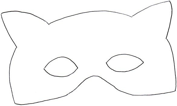 Coloriage Masques Masque Loup 10 Doigts