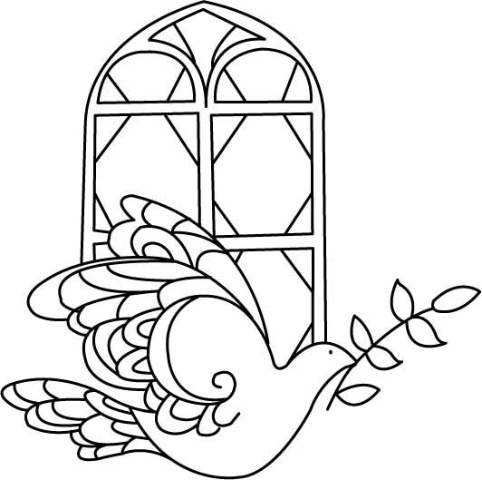 Coloriage Noel Colombe 01 10 Doigts