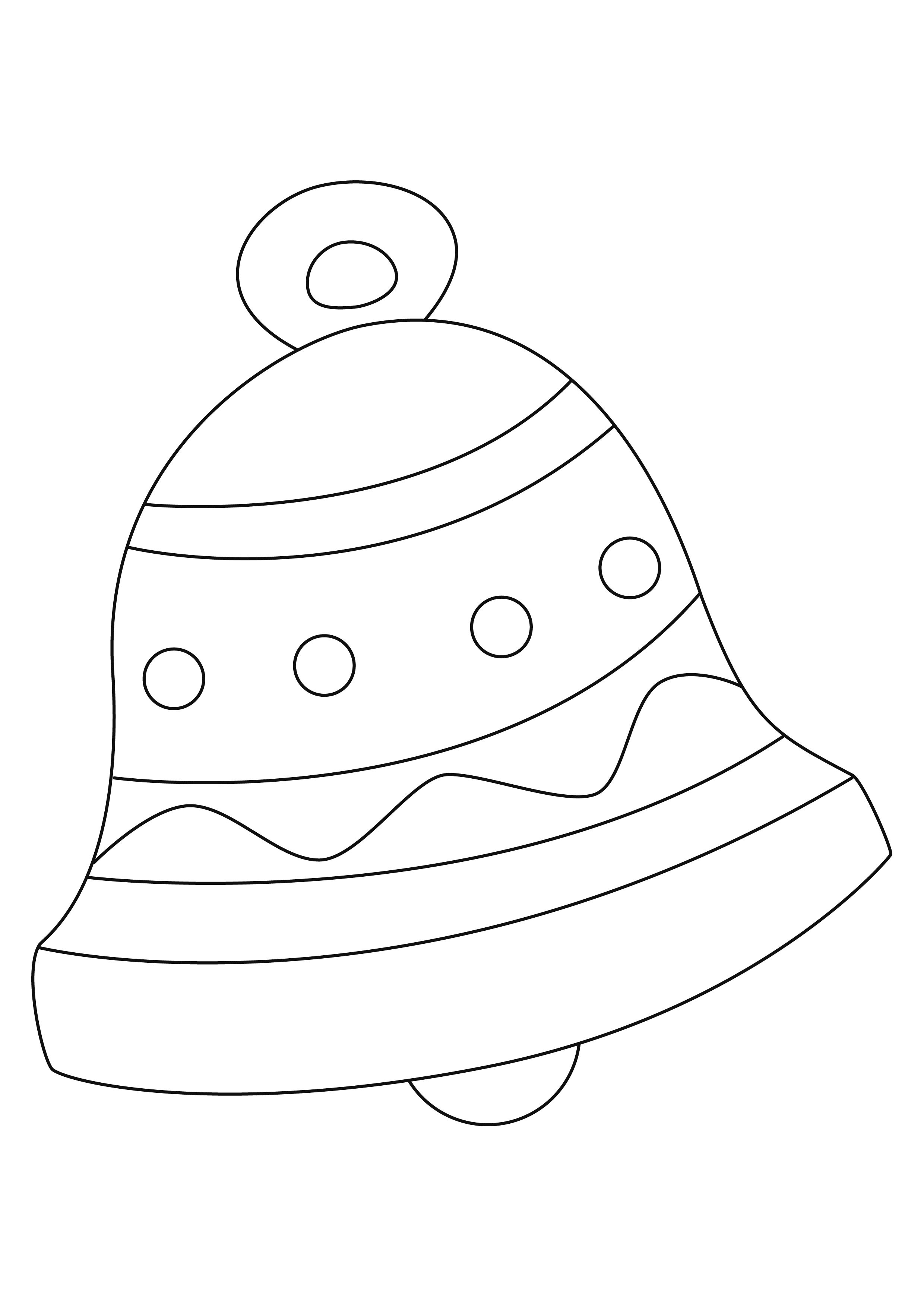 Coloriage p ques cloches 05 10 doigts - Coloriage cloche ...