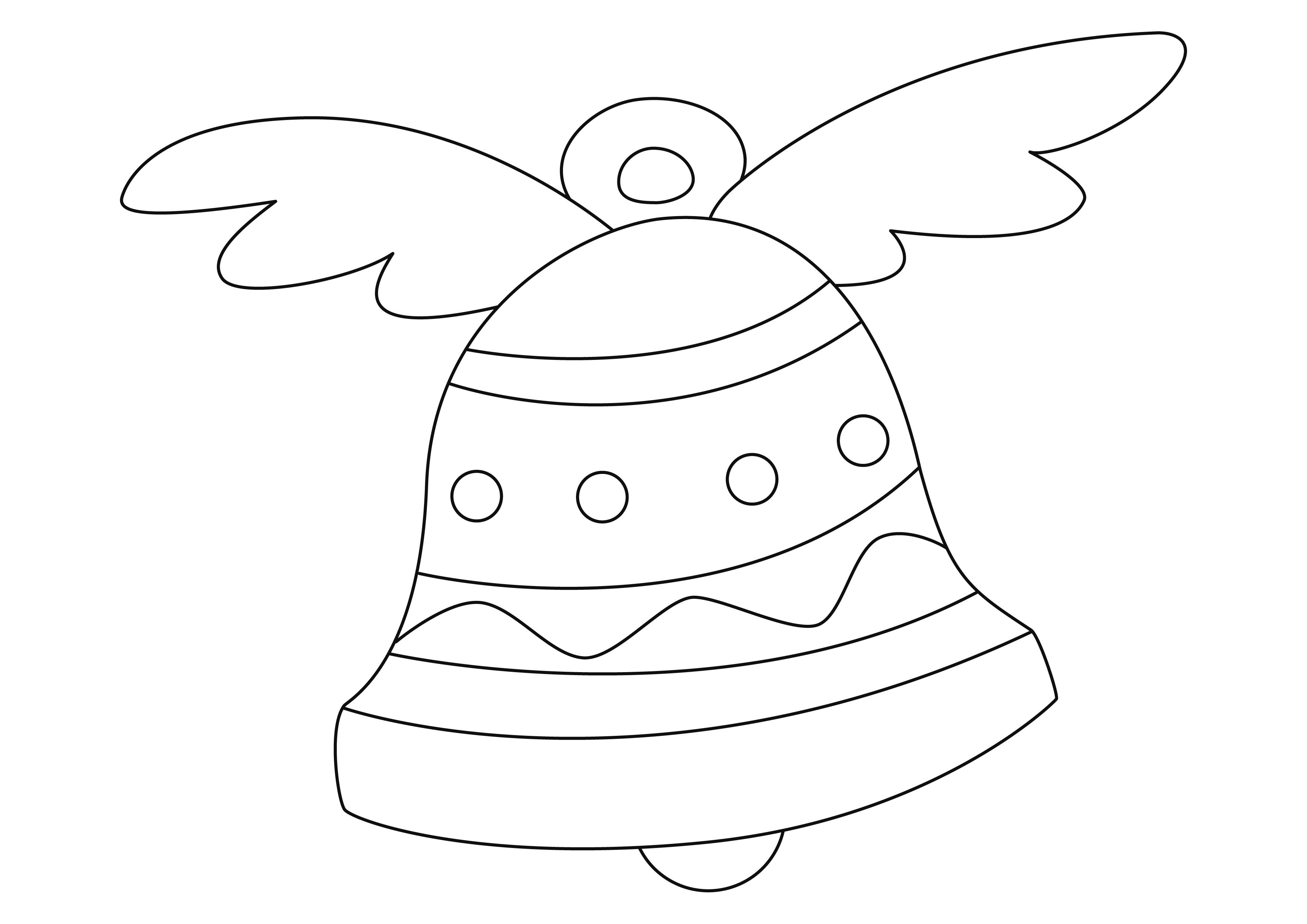 Coloriage Paques Cloches 07 10 Doigts