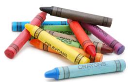 Crayons cire - Crayons - 10doigts.fr