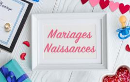 Mariages, Naissances - Evénements - 10doigts.fr