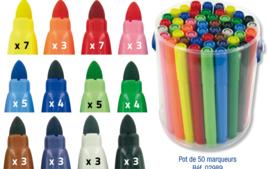 Feutres Larges - Feutres Coloriages et Dessins - 10doigts.fr
