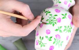 Je décore un vase - Activités de Home Déco - 10doigts.fr
