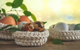 Je tricote un panier - Activités de Pâques - 10doigts.fr