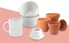 Supports en Céramique et Porcelaine - Supports à décorer - 10doigts.fr