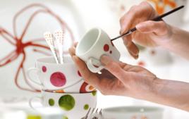 Je peins sur de la porcelaine - Créations à peindre - 10doigts.fr
