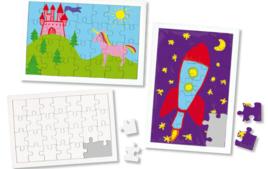 Puzzles à colorier ou peindre - Activités Créatives - 10doigts.fr