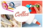 Colles, vernis, vernis-colles
