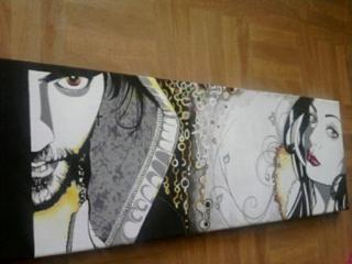 portrait mon amoureux et moi - Peinture - 10doigts.fr