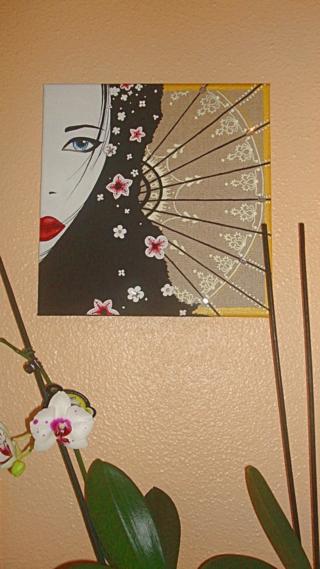 Mémoire d'une geisha - Peinture - 10doigts.fr