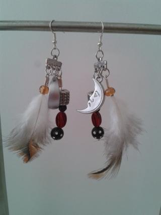 boucle d'oreille ethnique - Perles, bracelets, colliers - 10doigts.fr