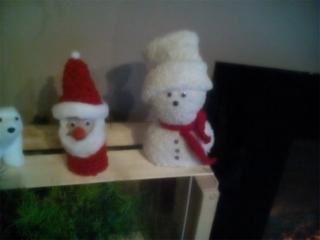 Père Noël et bonhomme de neige - Pâques, Noël - 10doigts.fr