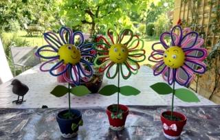 jolies fleurs - Fêtes des pères et mères - 10doigts.fr