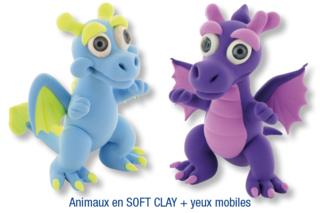 Animaux en pâte à modeler SOFT CLAY - Activités enfantines - 10doigts.fr