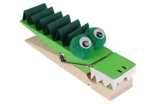 Pince mémo crocodile - Activités enfantines - 10doigts.fr