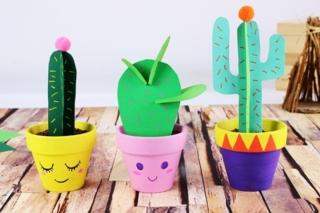 Cactus en papier - Activités enfantines - 10doigts.fr