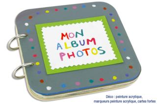 Album photos 5 pages en bois - Albums, carnets - 10doigts.fr