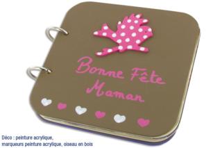 """Album photos en bois """"Bonne fête Maman"""" - Albums, carnets - 10doigts.fr"""