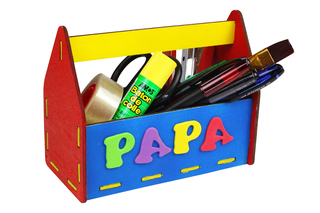 Boîte à outils / pot à crayons - Fête des Pères - 10doigts.fr