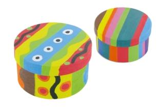 Boîte en copeaux de bois Déco  - Boîtes, coffrets, plateaux - 10doigts.fr