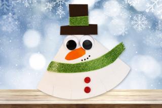 Bonhomme de neige à bascule - Noël - 10doigts.fr