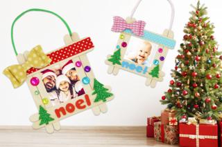 Cadre de Noël à accrocher dans le sapin - Noël - 10doigts.fr