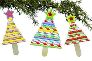 Sapin de Noël avec pailles en carton - Noël - 10doigts.fr