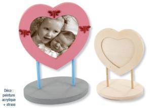 Cadre coeur décoré avec des strass - Cadres, tableaux - 10doigts.fr