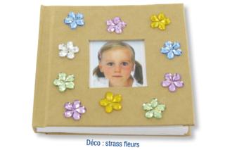 Carnet kraft strass fleurs - Albums, carnets - 10doigts.fr