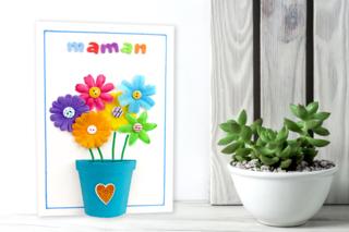 Tableau Fleurs pour la fête des mères - Fête des Mères - 10doigts.fr