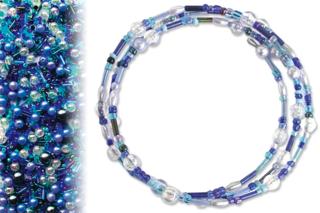 Kit bracelets farandole de perles fantaisie, en camaïeu de bleus - Bijoux - 10doigts.fr
