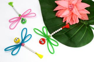 Libellules en perles faciles à fabriquer - Activités enfantines - 10doigts.fr