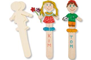 Marque-pages silhouettes, en bois naturel à décorer - Activités enfantines - 10doigts.fr