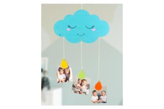 Mobile nuage porte-photos - Activités enfantines - 10doigts.fr