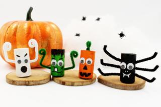 Monstres d'Halloween en bouchons - Halloween - 10doigts.fr