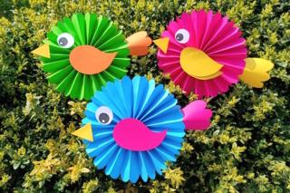 Jolis oiseaux en papier - Activités enfantines - 10doigts.fr