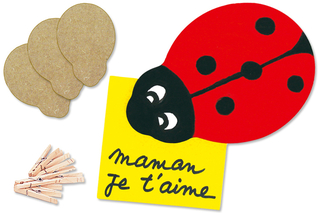 Pense-Bête Coccinelle - Activités enfantines - 10doigts.fr