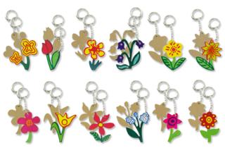 Porte-clefs fleurs en bois MDF - Porte-clefs, gri-gris - 10doigts.fr